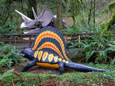 My mom took us on a road trip down the coast highway and we stopped at this roadside attraction at kids. Happy cheesy dinosaur statues in a forest setting makes for good times for kids. Road Trip Across America, Oregon Road Trip, Abandoned Amusement Parks, Time Kids, Roadside Attractions, Oregon Coast, Prehistoric, Summer Fun, Habitats