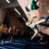 Crushing in the bouldering cave at GWPC.