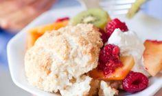 Coconut Shortcakes with Mango, Kiwi and Raspberries
