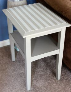 End Table- Gray vs. Stripes | Finding Purpose
