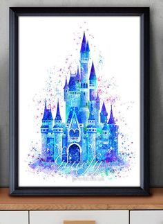 Hey, I found this really awesome Etsy listing at https://www.etsy.com/listing/261177752/disney-cinderella-castle-watercolor