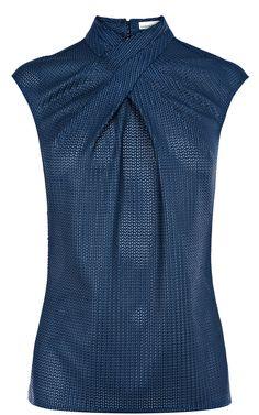 Karen Millen Sparkly fabric mix top