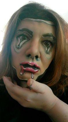 Schmelzendes Gesicht von Sabrina Hoffmann Face Art, Septum Ring, Halloween Face Makeup, Fashion, Moda, Fasion, Trendy Fashion, Makeup Art, La Mode