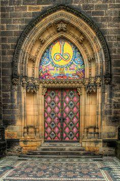Prague Church doors