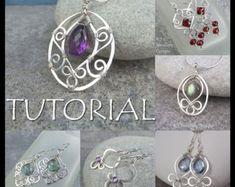 Wire Jewelry Tutorial WIRE FLOWERS 4 variations earrings &
