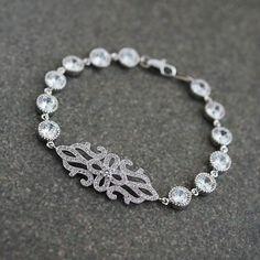 Wedding Jewelry Bridal Jewelry Bridal Bracelet Vintage Style