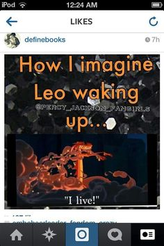"""But imagine Percy waking up next to him and he does that and Percy's just like """"Leo, what the hades? Percy Jackson Fan Art, Percy Jackson Memes, Percy Jackson Books, Percy Jackson Fandom, Percabeth, Solangelo, Magnus Chase, The Kane Chronicles, Rick Y"""