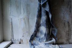 LAST ONE scarf tie dye organic cotton hemp jersey by enhabiten,