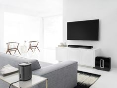 Sonos 5.1 Surround Sound package with PLAYBAR as soundbar, SUB subwoofer, and 2 PLAY:1s as surrounds
