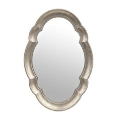 Pic On Silver Scalloped Oval Mirror