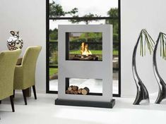 Another bio ethanol fireplace, so cool that they can be portable.  They look great anywhere.