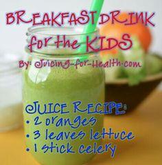 Good breakfast juice for kids