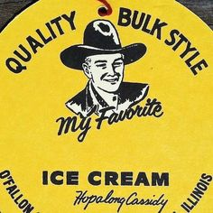 1950s Hopalong Cassidy signs that were hung from the ceiling!!! Design on both sides of ceiling sign!!! 4.75 in diameter