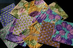 Very cute quilted coasters.  Good blog with awesome inspiring pics.
