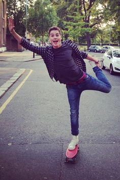@Fellow Fellow McLaughlin King Harries: Jacks started something called ballet Penny boarding... Apparently it's the new craze around town!