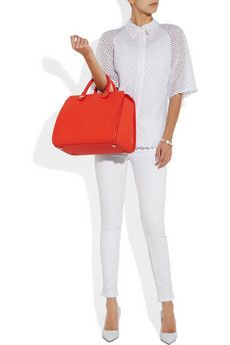 Victoria Beckham red leather tote bag