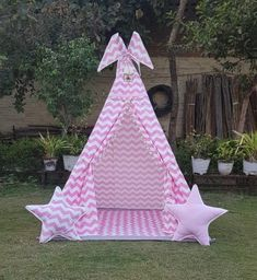 Play Tents, Kids Tents, Teepee Kids, Teepee Tent, Tent House For Kids, House Tent, Cute Pillows, Kids Pillows, Girls Tent