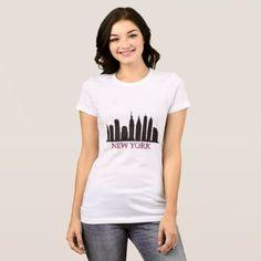 New York skyline T-Shirt - construction business diy customize personalize