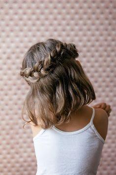 Four little girl hair tutorials.