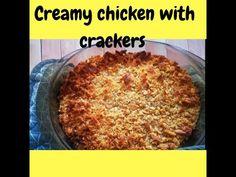 Creamy Chicken with Crackers - YouTube Children Recipes, Baking With Kids, Creamy Chicken, Crackers, Kids Meals, Veggies, Dishes, Youtube, Cream Chicken