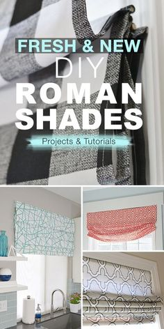 Fresh & New DIY Roman Shades! - Check out these tutorials. Lots of new and up to date Roman Shades. Fun and easy home decor projects. #DIYromanshades #romanshades #romanshadeprojects #romanshadeideas #DIYromanshadeprojects #DIYromanshadeideas #DIYhomedecor #DIYwindowdecor #DIYwindowcoverings Home Improvement Loans, Home Improvement Projects, Home Renovation, Home Remodeling, Do It Yourself Decoration, Diy Roman Shades, Best Kitchen Designs, Partys, Easy Home Decor