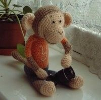 Pattern of crocheted monkey   Before you start to make your own crocheted monkeys, please read about copyright carefully!  Warranty and Copy...