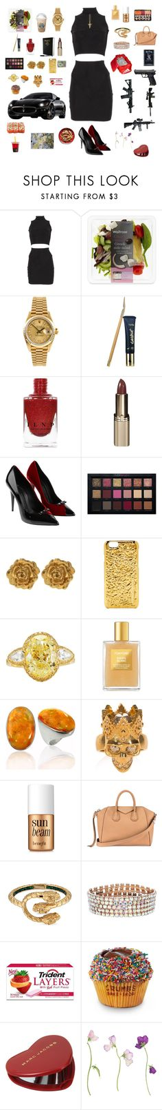 """""""Untitled #334"""" by liazpanda ❤ liked on Polyvore featuring Rolex, tarte, L'Oréal Paris, Giuseppe Zanotti, Huda Beauty, Liberty, Marc by Marc Jacobs, Tom Ford, BillyTheTree and Alexander McQueen"""