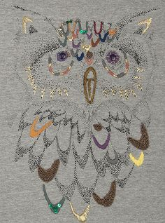 Detail of Soft Gallery owl t-shirt