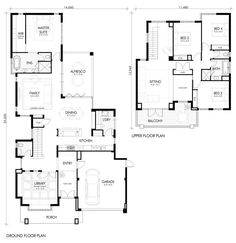 Browse our range of Double & Two Storey Perth Home Designs including images, floorplans and more. Hamptons Style Homes, The Hamptons, Storey Homes, Ground Floor Plan, Display Homes, House Prices, House Plans, New Homes, Floor Plans