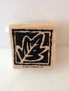 Stampin' Up Wood-Mount Stamp  Autumn Leaf From Thank You Blocks 2001 #StampinUp #Images
