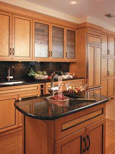 Blanco 400343 diamond double basin drop in or undermount for Birds eye maple kitchen cabinets
