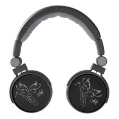 Personalized Black Saxophone Music Headphones