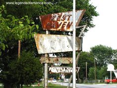 Old Rest Haven Motel sign in Afton, Oklahoma