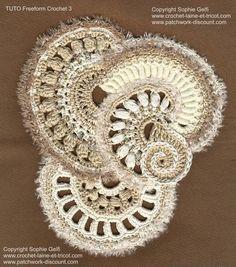 Freeform crochet tutorial 3 от SophieGelfiDesigns на Etsy