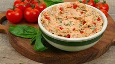 Sun-Dried Tomato, Cheese and Basil Pate - Recipes - Best Recipes Ever - This… Pate Recipes, Veggie Recipes, Great Recipes, Snack Recipes, Favorite Recipes, Yummy Appetizers, Appetizer Recipes, Food N, Good Food