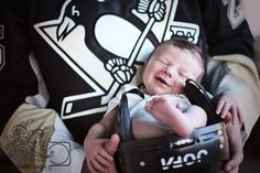 Hockey baby photography! OMG!!!! This photo is a MUST as soon as I have one!!! Husband already has his Pens jersey ready!!