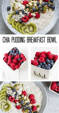 Chia Pudding Breakfast Bowl - Savory Lotus A creamy and rich super easy make-ahead breakfast to keep you fueled for hours. Healthy Breakfast Smoothies, Make Ahead Breakfast, Paleo Breakfast, Breakfast Bowls, Breakfast Recipes, Breakfast Cereal, Alkaline Breakfast, Detox Breakfast, Second Breakfast