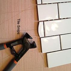 how to cut tile with a tile nipper