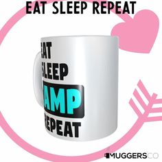 This, Eat Sleep Camp Repeat Coffee Mug makes for a cool funny gift that speaks of a person's passion for Camping. Funny Coffee Mugs, Coffee Humor, Funny Mugs, Eat Sleep, Great Gifts For Women, You Make Me Happy, Funny Gifts, Great Birthday Gifts, White Ceramics