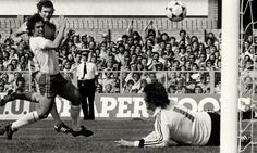 May 17th. 1980: Wales 4 England 1 - the day Ron Greenwood's men were run ragged by a rampant Welsh side. Leighton James scores the third, beating Ray Clemence at his near post.