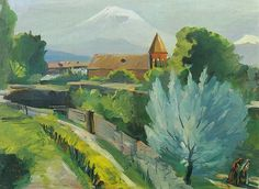 Martiros Saryan (Russian/Armenian) - An April Landscape, 1947.