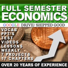My Full Semester Economics bundle is perfect for the teacher that has been given a new prep. You will get access to my Google Drive Link, and all the videos will be included for PPT's/Keynotes. It provides you with multiple options for teaching Economics with lots of resources to mix it up! #economics #tpteconomics #socialstudies #tptsocialstudies #history #tpthistory What Is Economics, Teaching Economics, Economics Lessons, Economic Systems, What Is Demand, Social Studies Resources, Flipped Classroom, A 17