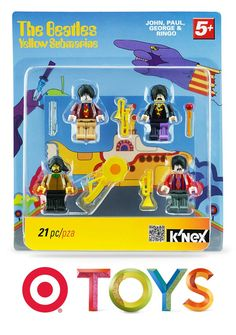 Bring one the greatest bands of all time back to the main stage with the K'NEX Live Nation Beatles Yellow Submarine figures.