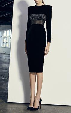Landon Long Sleeve Lady Dress by ALEX PERRY