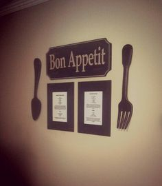 Frame A Couple Favorite Recipes And Group Together To Make Great Kitchen Wall Decor