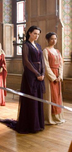 Morgana and Gwen! Luv this dress of Morgana's!