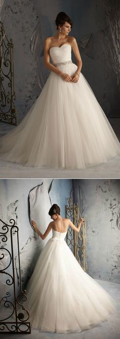 Romantic tulle ball gown.