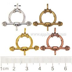 Zinc Alloy OT Clasps,Plated,Cadmium And Lead Free,Various Color For Choice,Approx 18*13*2mm,Bar: 7*23*3.5mm,Hole:Approx 2mm,Sold By Bags,No 000932
