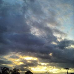 Tropical storm sunsets. I love this wild weather! #aphotoaday #ayearinpictures #stormyweather #skytheater