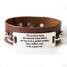 The Greatest Thing Bracelet - Dark Chestnut / Silver